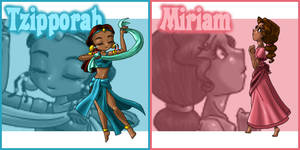 Tzipporah and Miriam Patches