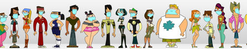 Surgical Masked Total Drama Contestants by Juliefan21