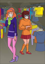 Daphne and Velma at the thrift store by Juliefan21