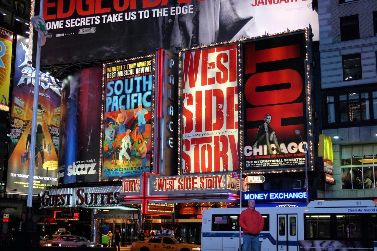 Broadway at Night by bluesman219