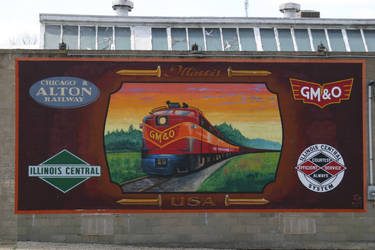 Wall Mural in Lincoln, Ill.