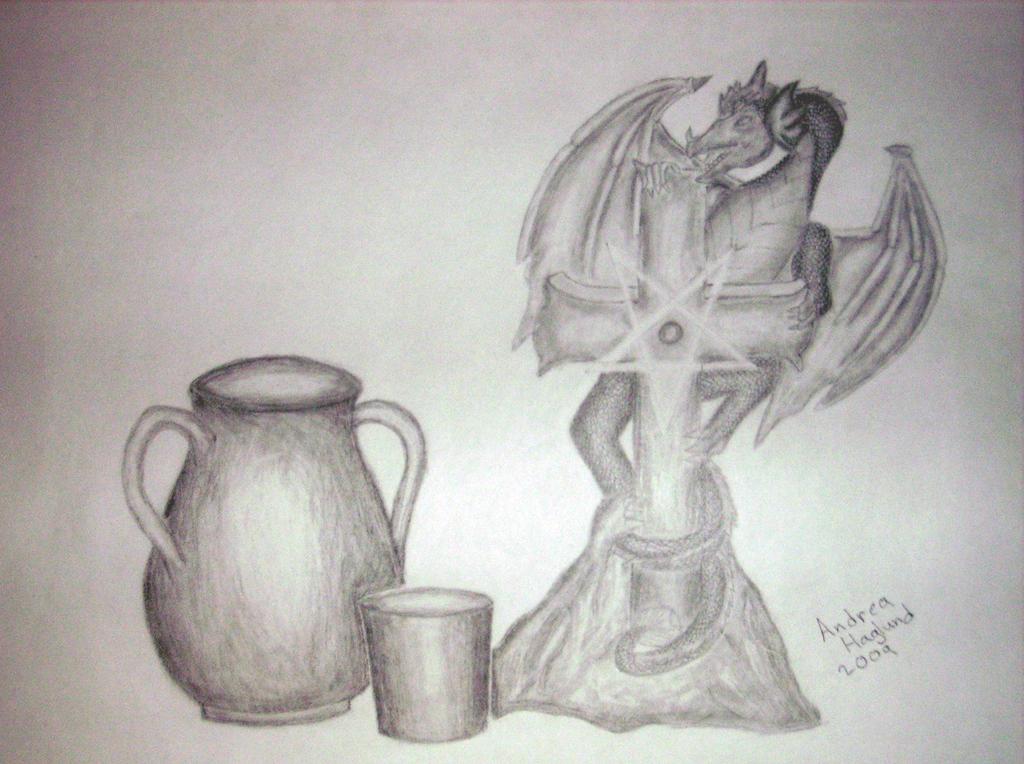 Still Life Drawing Dragon