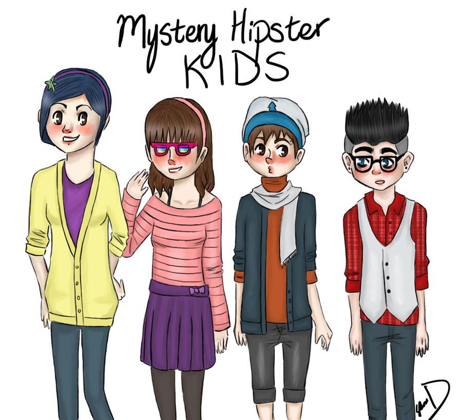 Mystery Hipster Kids by SozoArtist on DeviantArt