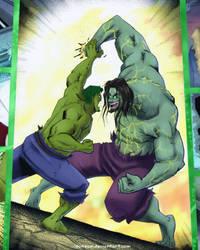 Commission- The Hulk vs Devil Hulk