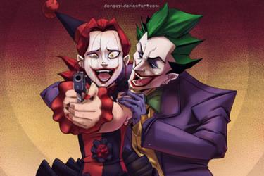 COMMISSION  -Barbara y Joker-