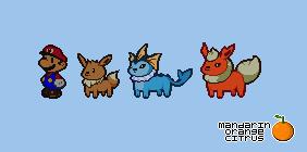 Paper Pokemon - Set 4 by mandarinorangecitrus