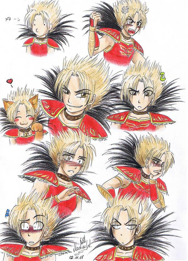Gan Ning's expressions by Black-Orochimaru