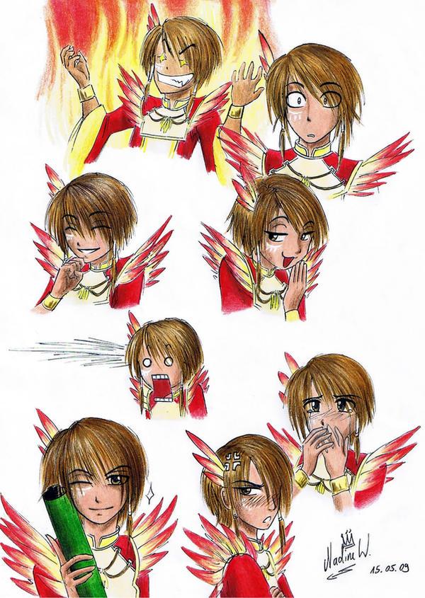 Lu Xun's expressions by Black-Orochimaru