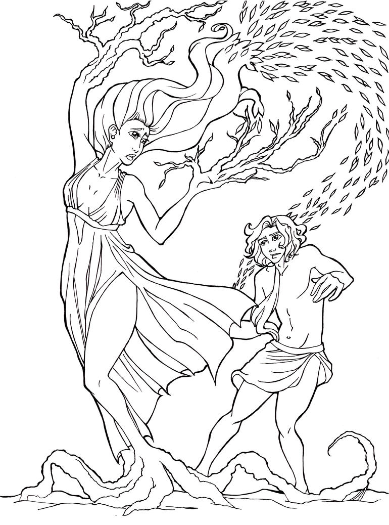 a report on the story of daphne and apollo in the ancient greek mythology Greek mythology: short summary of a myth of apollo  apollo saw the nymph daphne and fell in love, he chased her, so that she could escape him her.