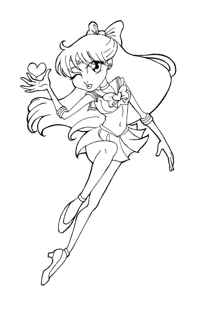 Biqleru art hot girls wallpaper for Sailor venus coloring pages