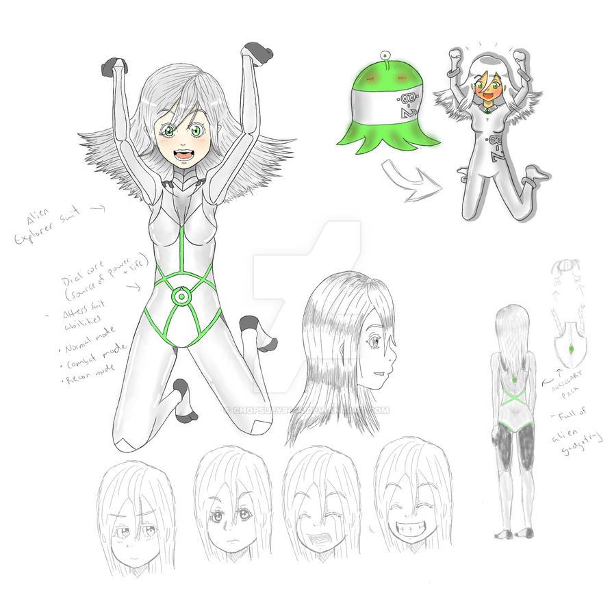 Ellie Ann, the Royal Alien Otaku Updated Concept by Chopsuey9444