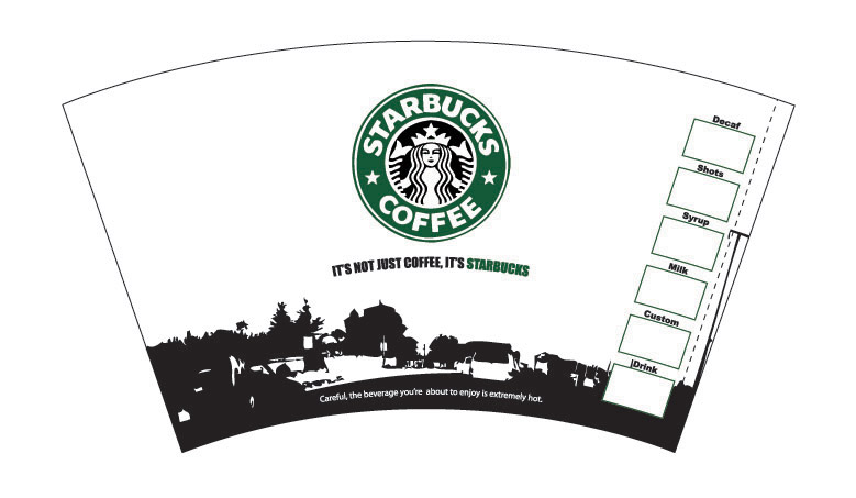 Starbucks cup by sparkyd99 on deviantart for Starbucks create your own tumbler blank template