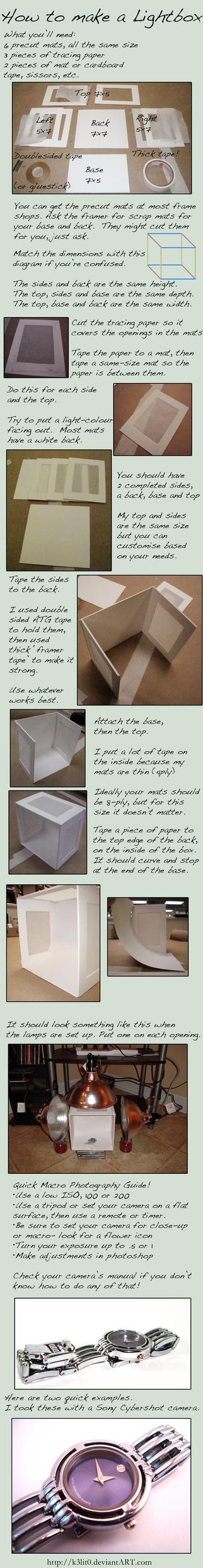DIY Lightbox by K3lit0