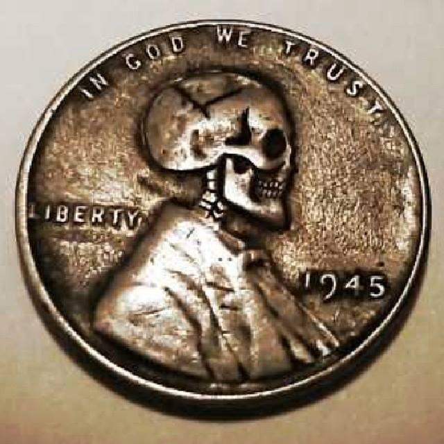 1945 Skull Wheat Penny by JBExpress on DeviantArt