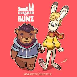 Husbear and Bunz by Torogoz
