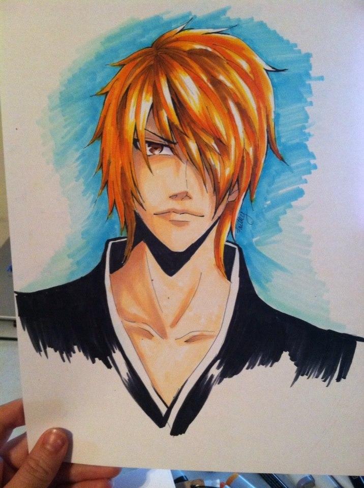 Ichigo Copic Fanart by TruPink