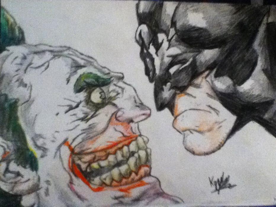 Batman and Joker Drawing by Griffami on DeviantArt