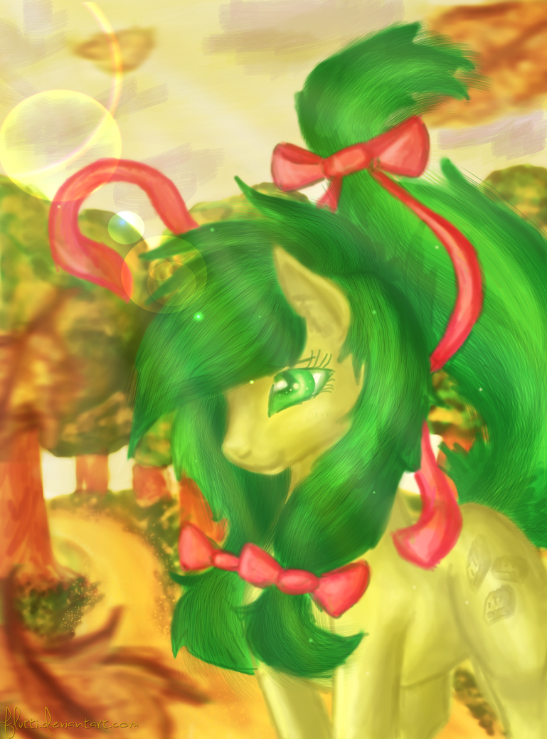 A leaf in the wind ~Commission Apple Fritter~ by Flutti