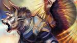 GW2 Commission - Draginraptor by Flutti