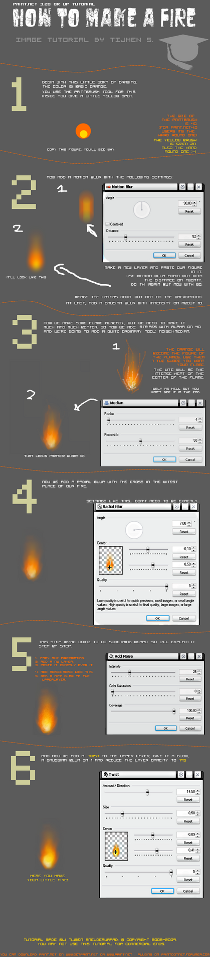 make a fire with paint.net by theartistic on DeviantArt
