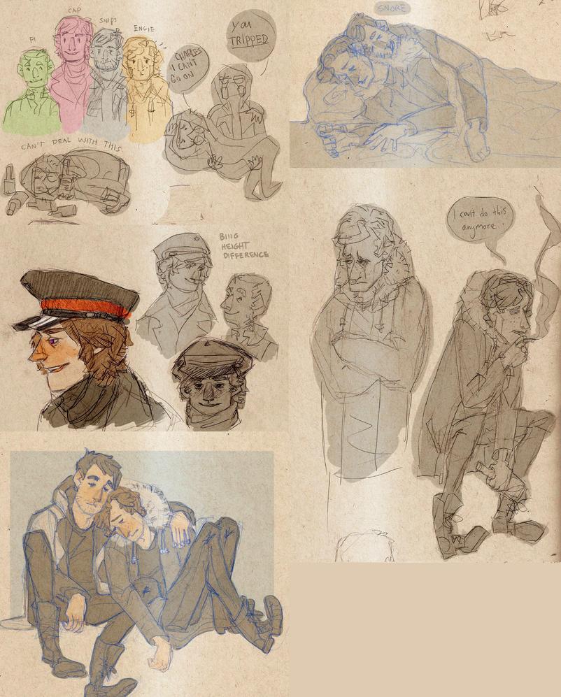 romac sketchdump by Jomajaba