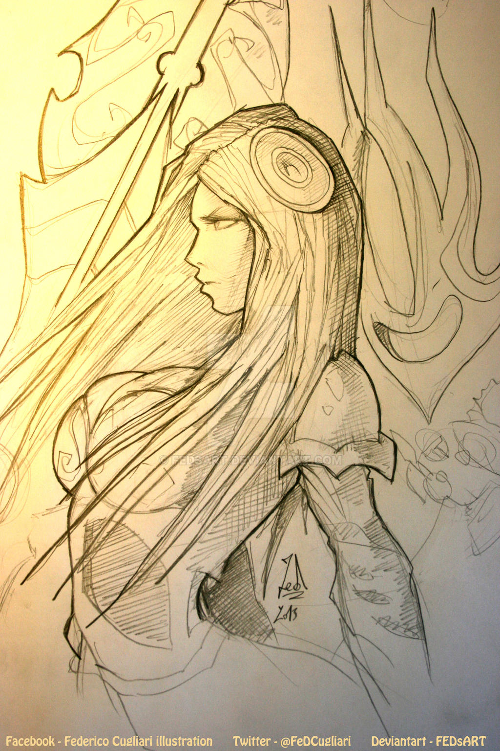 Sketching Irelia - 15mins by FEDsART