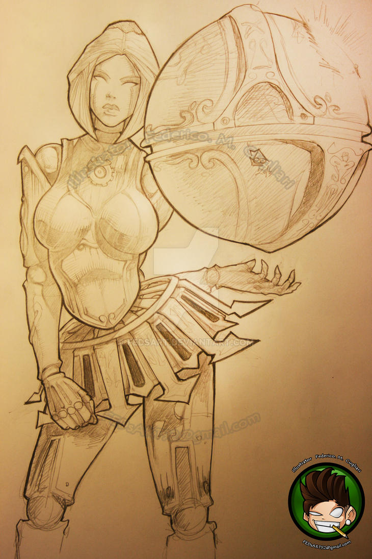 Orianna Drawing by FEDsART