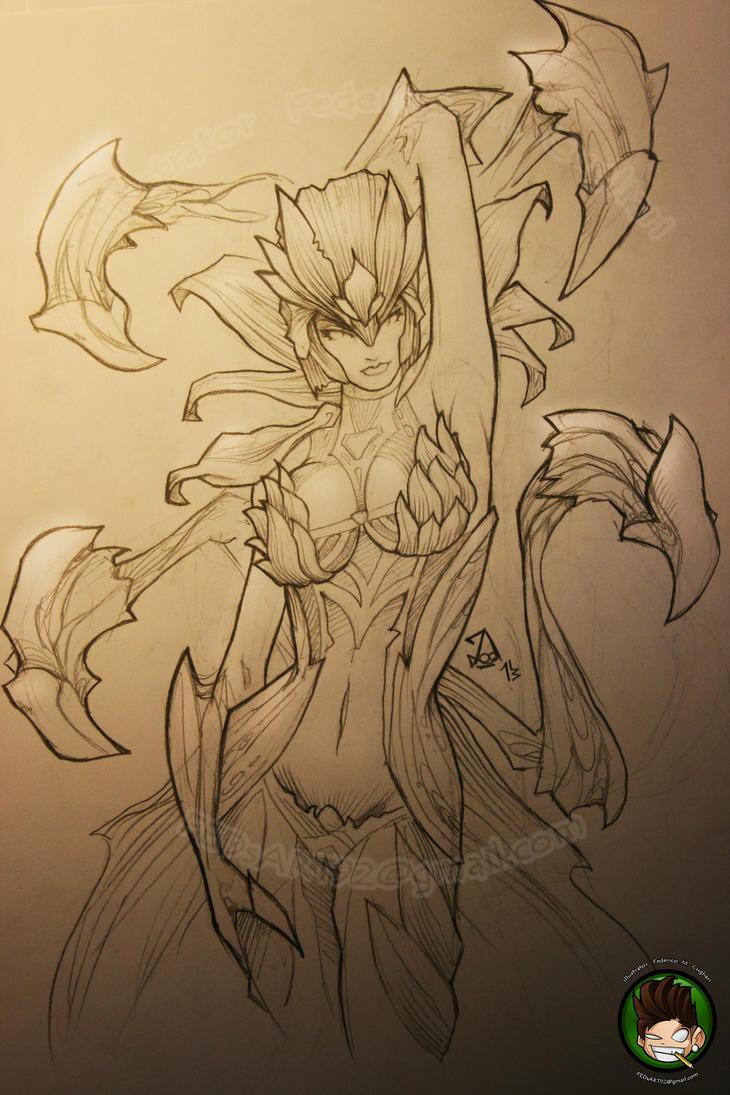 Elise Death Blossom by FEDsART