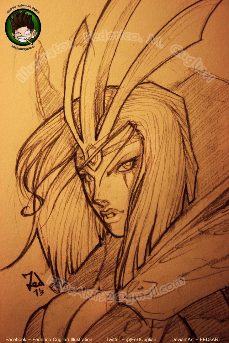 Sketching LeBlanc by FEDsART