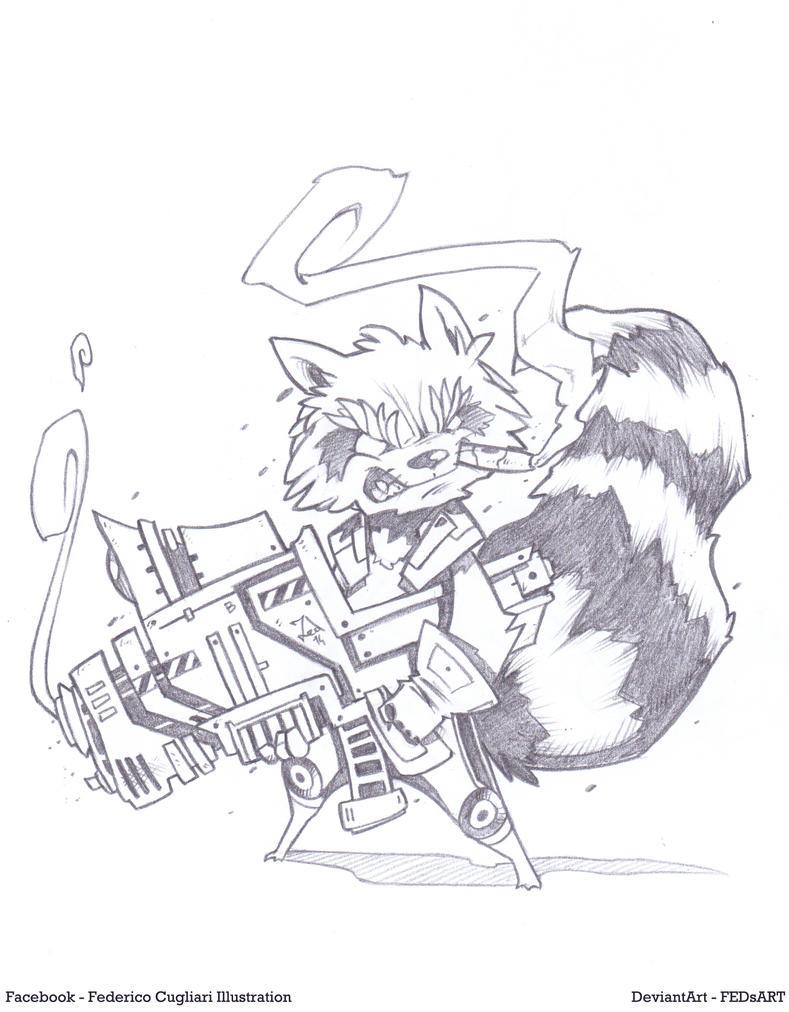 Rocket Sketch by FEDsART