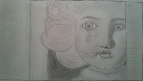 Spying Sad Doll by keith2c