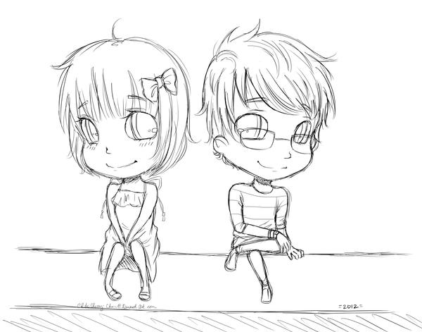 chibi couple doodle by chibicherry chan on deviantart