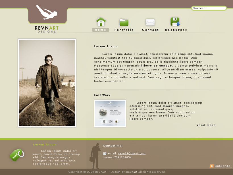 Portfolio Layout V.2 by revn89