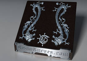 Silver950 Dragon earrings by ErikaDErikaD