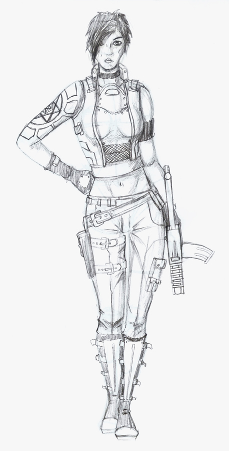 Character Sketch: Soldier by Famine-mile on DeviantArt