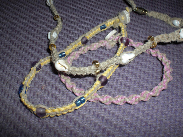 hemp anklets how to make