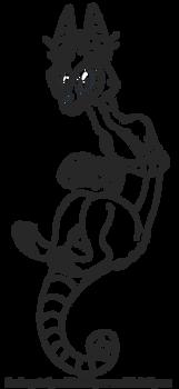 Free line art base - Feline Skullzter