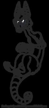 Free line art base - Canine Skullzter
