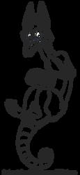 Free line art base - Avian Skullzter by Smallblacksticky