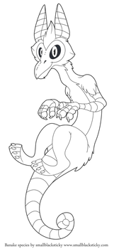 Free line art base - Avian Skullzter