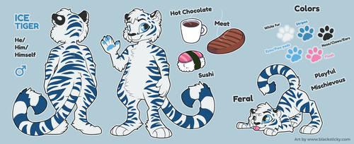 Ice Tiger [reference sheet] by Smallblacksticky