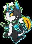 Spliced Dragon Cat [redraw, personal] by Smallblacksticky