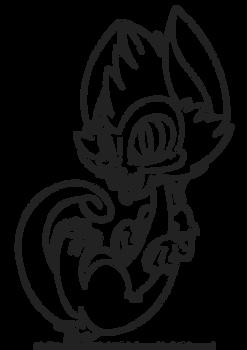Chibi Skullzter Line Art Base - Feline/Canine