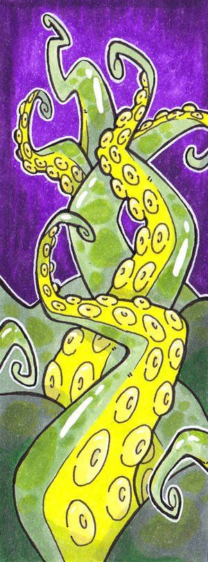 Tentacles with Copic markers [personal]