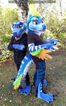 Old vs New (Gaia Partial suit 2019 [commission]) by Blacksticky