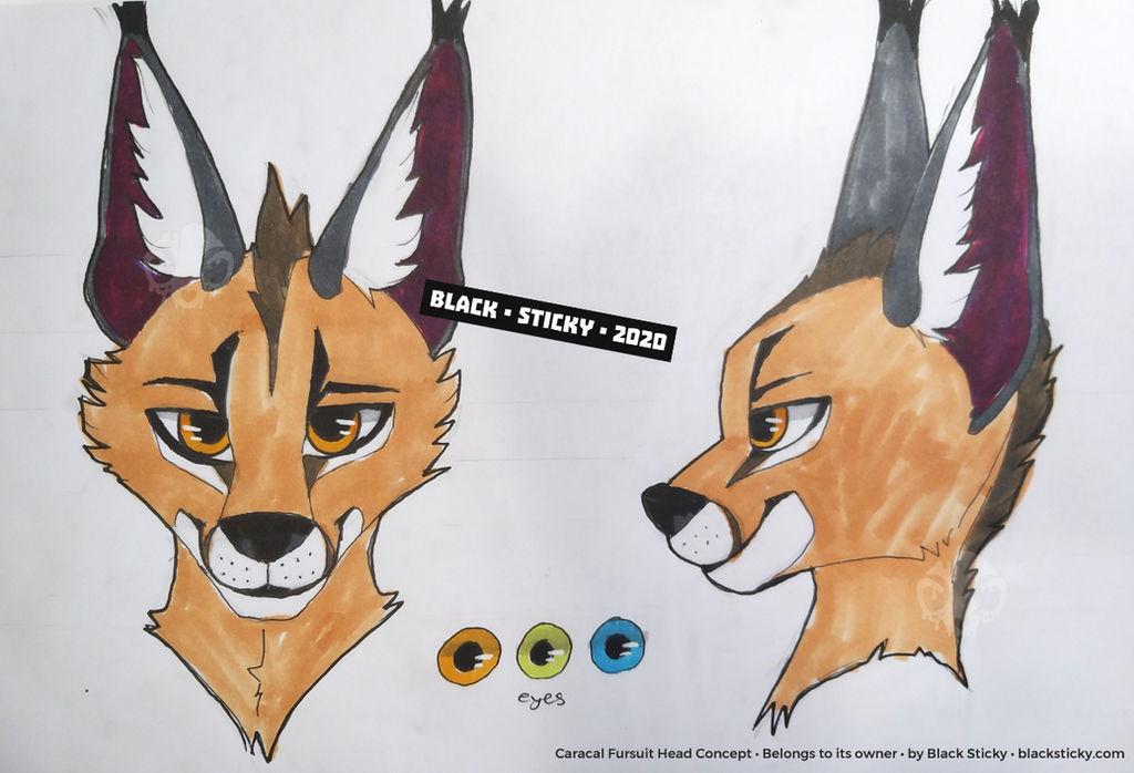 Caracal Fursuit Head Concept [commission]