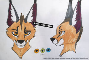 Caracal Fursuit Head Concept [commission]