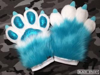 Blue Sparkle Paws!