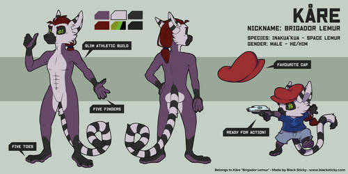 Space Lemur Reference Sheet [commission]