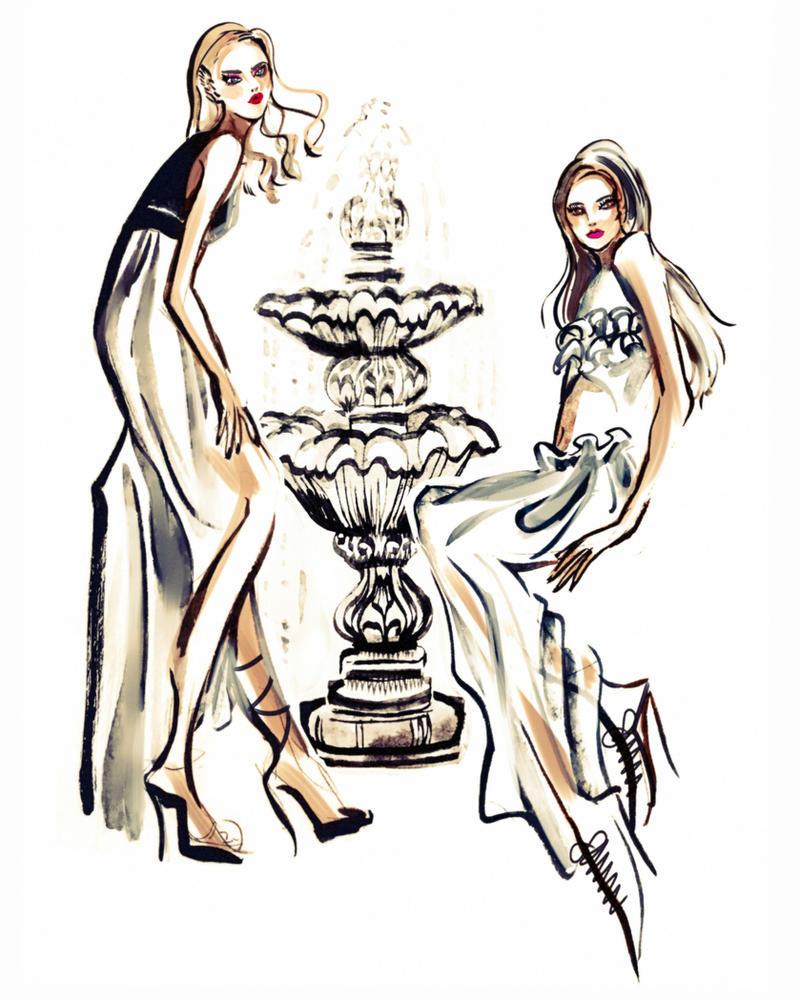 Fashion illustration by 134134